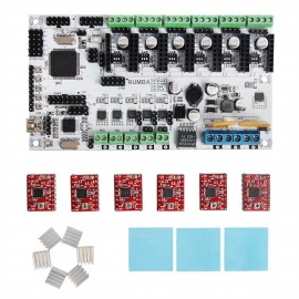 Geeetech 3D Printer Rumba + A4988 Stepper Driver+ Heatsink Kit - White