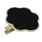 Flower Pattern Blackboard -muotoiset leikkeet - Wood Color + Black (2PCS)