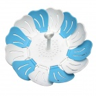 Creative Shrinkage Flowers Pattern Fruit Plate - White + Blue