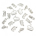 Creative Small Animals Shape Paper Clip - Silver (20 PCS)