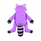 Raccoon Style Doll Toy w/ Sound Effect for Pet - Purple + Black