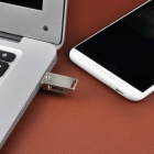Stainless Steel Rotary USB 2.0 Flash Drive - Silver (16GB)