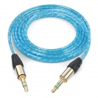 MM-35 3.5mm Male to Male Audio Cable - Blue (100cm)