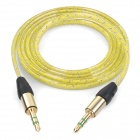 MM-35 3.5mm Male to Male Audio Cable - Yellow (100cm)