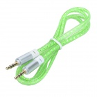 MM-35 3.5mm Male to Male Audio Cable - Green (100cm)