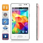 "Mini-N910 4.0"" IPS Android 4.4.2 WCDMA 3G Bar Phone w/ Dual-SIM, WiFi, GPS - Pink + White + Silver"