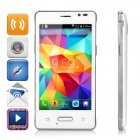 "Mini-N910 4.0 ""IPS Android 4.4.2 WCDMA 3G Bar Phone w / Dual-SIM, WiFi, GPS - Weiß + Silber"