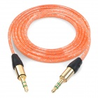 MM-35 3.5mm Male to Male Audio Cable - Orange (100cm)