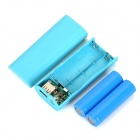 3.7V 4800mAh Power Bank w/ Flashlight - Blue