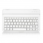 Aluminum Alloy 60-Key Bluetooth V3.0 Keyboard for Samsung Galaxy Tab S 8.4 T700/T705 - White + Gold