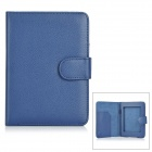 "Protective PU Leather Flip Open Case for 6"" Amazon Kindle Paperwhite 1/2 - Blue"