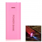DIY 2 x 18650 Li-ion Battery USB Charger Power Bank Box Case w/ Flashlight - Pink