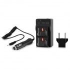 2 x 1550mAh Battery + US Plug Battery Charger + EU Converter + Car Charger Set for GoPro 3+ / 3