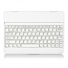 "82-Key Bluetooth V3.0 Aluminum Alloy Keyboard w/ Stand for 10.5"" Samsung Galaxy Tab S T800 - White"