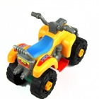 Children's Educational Assembled Puzzle Motorcycle Toy - Yellow