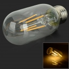 E27 4W LED Filament Bulb Warm White 380lm 3000K - Silver (AC 85~265V)