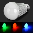 E27 7W Dimmable Smart LED Bulb Bluetooth V4.0 RGB 550lm 3200K - White + Silver