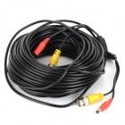 BNC + DC macho a hembra del Cable Video / Power - Black (30m)