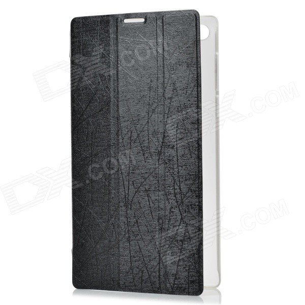 PU + Plastic Case w/ Stand for Lenovo A7-30 (A3300) - Black