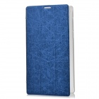 Protective PU Leather + Plastic Case w/ Stand for Lenovo A7-30 (A3300) - Blue