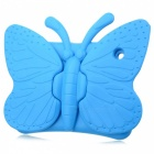 Butterfly Style Silicone Back Shell Case for IPAD 2 / 3 / 4 - Blue