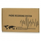 USB 2-Channel Telephone Recording Box - White