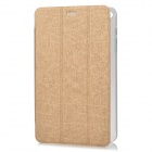 Protective PU Case w/ Stand for Huawei S8-701w - Golden