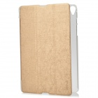 Protective PU + Plastic Case w/ Stand for Google Nexus 9 - Golden
