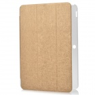 Protective PU + Plastic Full Body Case w/ Stand / Auto-Sleep for Asus Transformer Pad TF103C - Gold