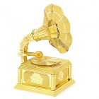 DIY Educational Gramophone Style Stainless Steel Assembly Blocks - Golden