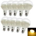 YouOKLight E27 7W Lamp Warm White Light 3000K 700lm 12-SMD 5730 LED - White (220V / 10 PCS)