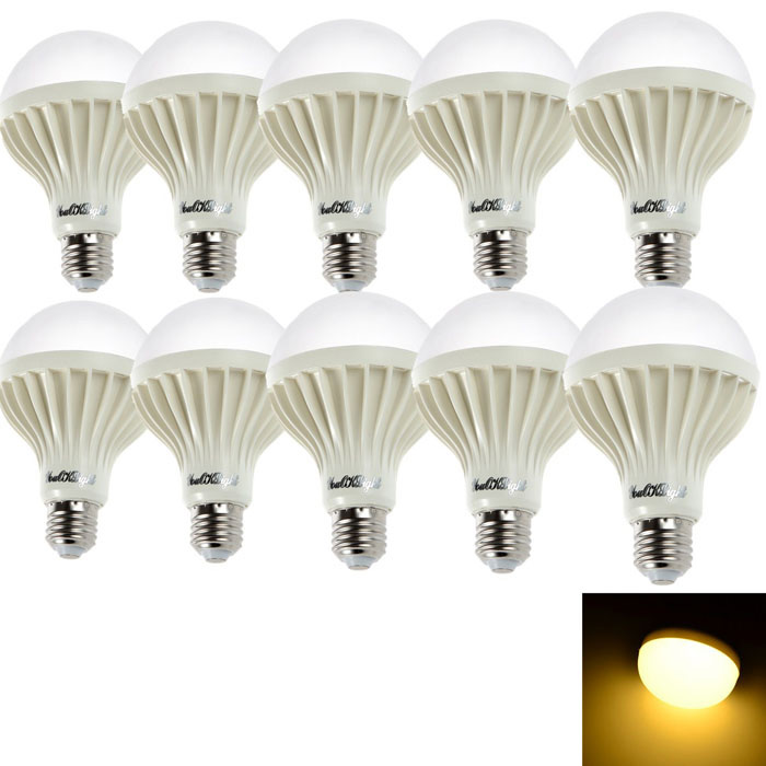 YouOKLight E27 12W 1180lm 18-SMD 5630 Warm White Bulb (220V / 10PCS)