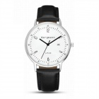 Genuine Bergmann 1933 Classic Unisex Analog Quartz Watch w/ Calendar - Black + Silver + White