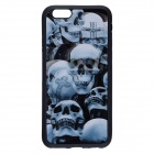 "Fashionable 3D Skulls Pattern Protective TPU Soft Back Case for IPHONE 6 4.7"" - Black"