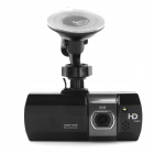 "D&Z D&ZG800 2.7"" TFT 1080P CMOS 140° Wide-Angle Car DVR Camcorder w/ 8GB C10 TF Card - Black"