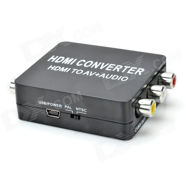 HDMI to AV + Audio Converter - Black