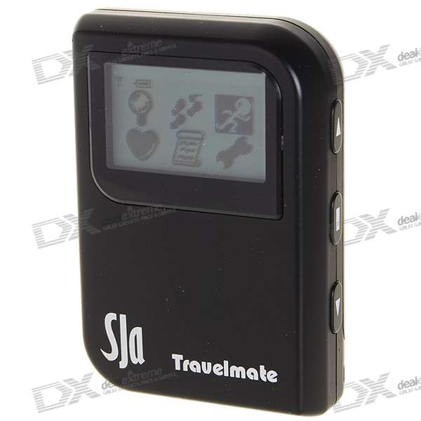 "1.4"" LCD Travel Mate with Location Finder + Data Logger + Photo Tagger + G Mouse + More"