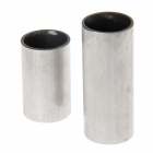 WA046C 21mm Stainless Steel Guitar Slide Finger Knuckles - Silver (2 PCS)