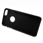 Plastic + PU Leather Back Case w/ Stand for IPHONE 6 PLUS - Black