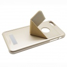 Stylish Plastic + PU Back Case w/ Stand for IPHONE 6 PLUS - Golden