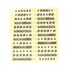 Electric & Acoustic Guitar Scale Sticker - Yellow + Black