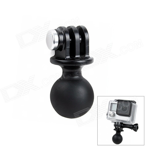 Diving Ball Head Mount Adapter for GoPro Hero 4 3+ 3, SJ4000Mounting Accessories<br>Form ColorBlackModelM-DBHQuantity1 DX.PCM.Model.AttributeModel.UnitMaterialPlastic + steelShade Of ColorBlackCompatible ModelsOthers,GoPro Hero 1,GoPro Hero 2,GoPro Hero 3,GoPro Hero 3+,GoPro Hero 4,SJ4000 / SJ5000RetractableNoScrew SizeAdapter for GoProMax.Load2000 DX.PCM.Model.AttributeModel.UnitPacking List1 x Ball head mount<br>