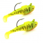 KDR503 Lifelike Fish Style Fishing Bait w/ Hook - Yellow (2PCS / 5cm)