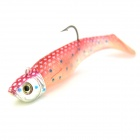 KDR501 Fish Style Fishing Lure Bait Hook - Red + Transparent (8cm)