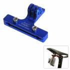 Fat Cat Outdoor Cycling Bike 2-Rail Saddle Seat Mount for GoPro Hero 4 / 3 / 2+SJ4000 / 5000 - Blue