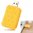 USB-JX Sandwich Biscuit Style USB 2.0 Flash Drive Disk - Yellow (4GB)