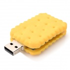 USB-JX Creative Sandwich Biscuit Style USB 2.0 Flash Drive Disk - Yellow (4GB)
