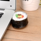 Sushi estilo USB 2.0 Flash Drive - blanco + negro (4GB)