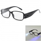 UV / Radiation Protection 2.0D Presbyopic Glasses w/ LED & Money Detector & Magnet Therapy for Elder