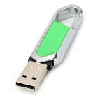 Blade Cutter Style USB 2.0 Flash Drive - Green + Silver (16GB)